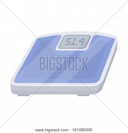 The scales in the gym for the weighing.Gym And Workout single icon in cartoon style vector symbol stock web illustration.