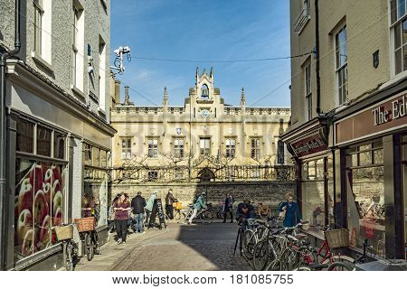 Typical Street Scene In The Old Part Of Cambridge