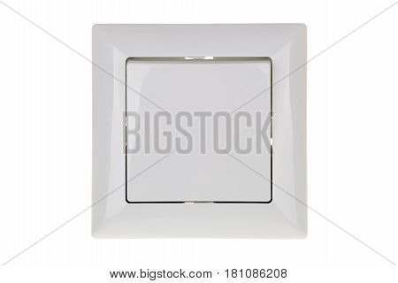 white light switch isolated on white background