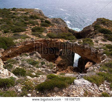 Seismic Fail Natural Bridge
