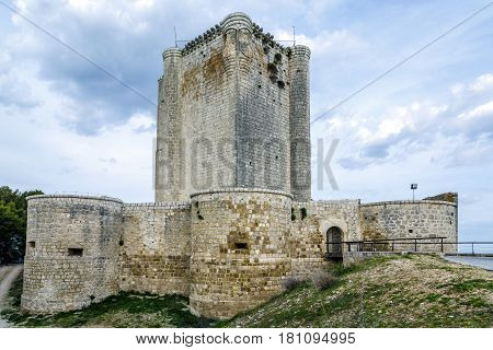 Castillo de Iscar in Valladolid province Castilla Leon central Spain.