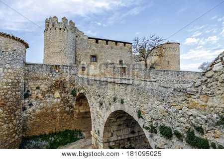 Castle in Almenar village Soria province Castile Spain