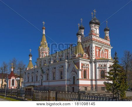 View of the Intercession Cathedral in Grodno on a sunny day