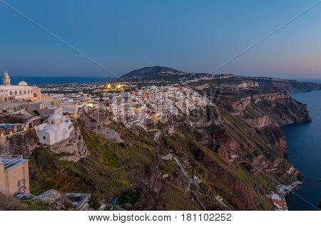 Santorini  is an island in the southern Aegean Sea, Greece