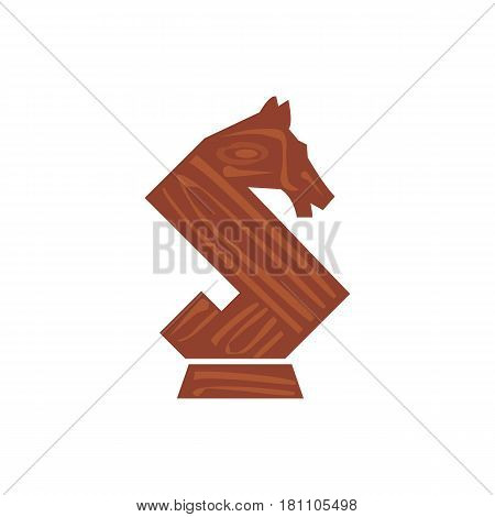 Illustration of a horse chess piece that can be used as logo symbol or as isolated design element