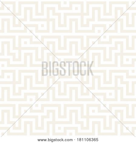 Maze Tangled Lines Contemporary Graphic. Abstract Geometric Background Design. Subtle Vector Seamless Pattern.