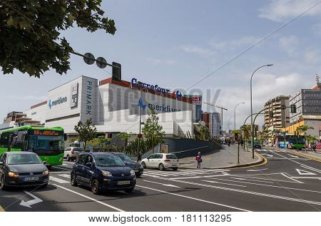 Santa Cruz de Tenerife, Canary Islands, SPAIN Shopping center Meridiano, Carrefour. March 1, 2017. This is one of the biggest shopping center in Tenerife with a wide range of specialty stores and restaurants