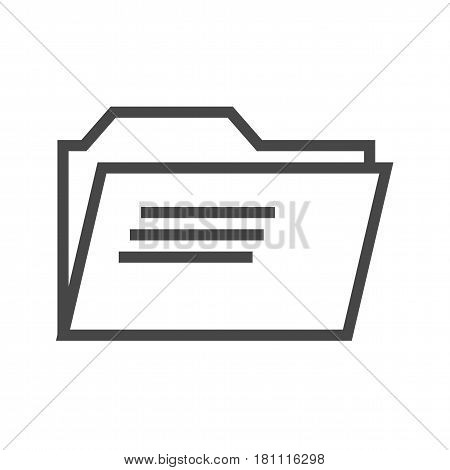 Folder Thin Line Vector Icon. Flat icon isolated on the white background. Editable EPS file. Vector illustration.