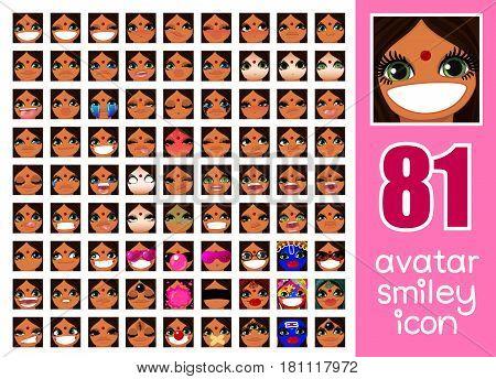 SET-81 social media avatars for girl 04