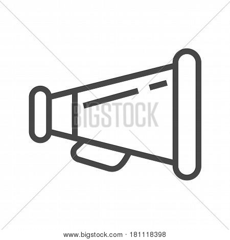 Loud Speaker Thin Line Vector Icon. Flat icon isolated on the white background. Editable EPS file. Vector illustration.