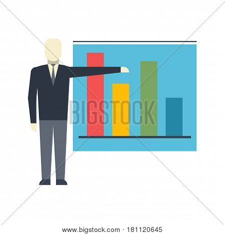 Presentation Flat Vector Icon. Flat icon isolated on the white background. Editable EPS file. Vector illustration.