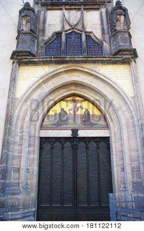 Schlosskirche church in wittenberg Martin Luther details