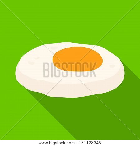 Fried eggs with yolk.Burgers and ingredients single icon in flat style vector symbol stock web illustration.
