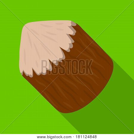 Conical log. Canada single icon in flat style vector symbol stock illustration .