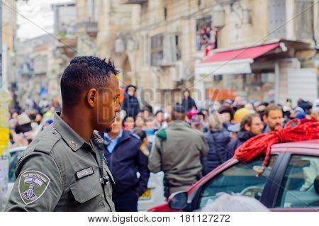 Protest In Mea Shearim Neighborhood, Jerusalem