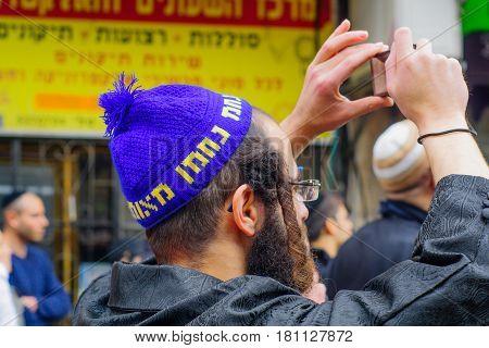 Ultra-orthodox Jewish Men, In Mea Shearim, Jerusalem