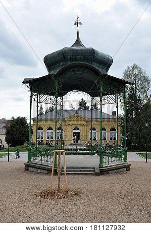 Old gazebo in the park, the city of Olomouc, Czech Republic, Europe