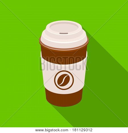 A cup of coffee to takeaway.Different types of coffee single icon in flat style vector symbol stock illustration .