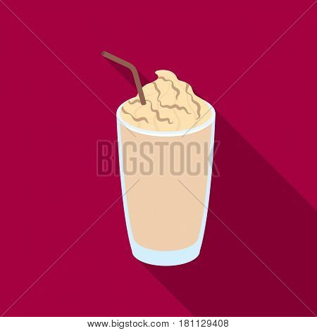 A glass of frappe.Different types of coffee single icon in flat style vector symbol stock illustration .