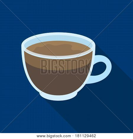 Espresso coffee.Different types of coffee single icon in flat style vector symbol stock illustration .
