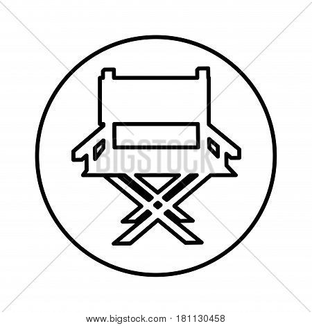 director chair isolated icon vector illustration design
