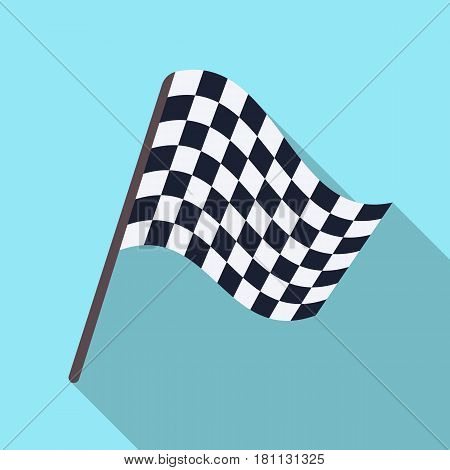 Flag in football referee.Fans single icon in flat  vector symbol stock illustration.