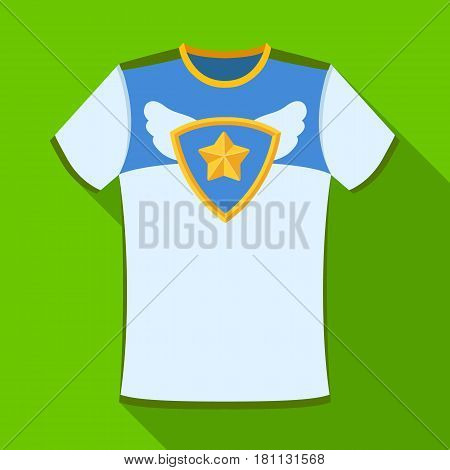 T-shirt fan with print.Fans single icon in flat  vector symbol stock illustration.