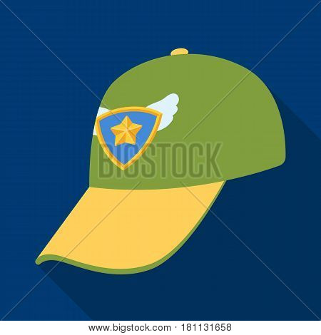 Cap football fan.Fans single icon in flat  vector symbol stock illustration.