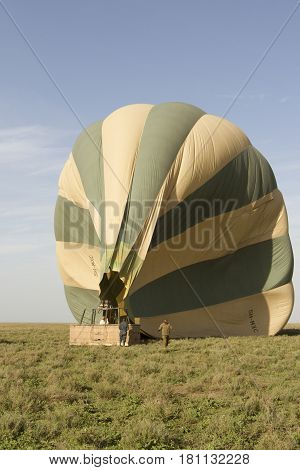 Hot Air Balloon Crew, Serengeti, Tanzania