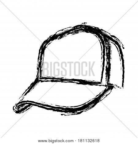 monochrome sketch of baseball cap vector illustration