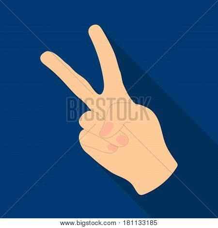 Peace symbol gesture.Hippy single icon in flat style vector symbol stock illustration .