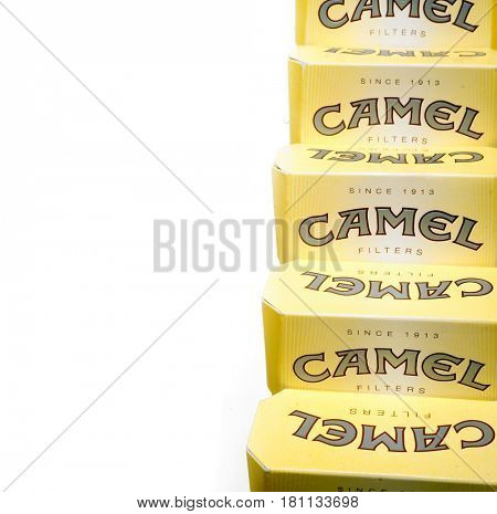 Camel is a brand of cigarettes introduced in 1913. Prague, Czech Republic- March 20, 2017