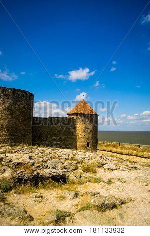 Akkerman fortress in Belgorod-Dnestrovsky Ukraine. Sunny summer day