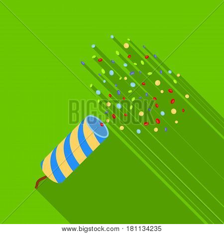 Holiday firecracker salute.Party and parties single icon in flat style vector symbol stock web illustration.