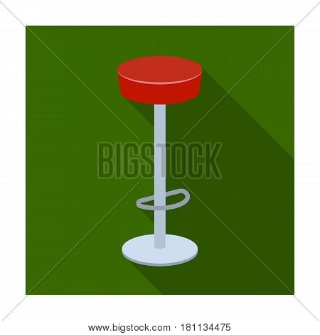 High chair seat near the bar. Bary chair to relax. Pub single icon in flat style vector symbol stock web illustration.