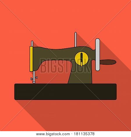 Machine for fast sewing.Sewing or tailoring tools kit single icon in flat style vector symbol stock web illustration.