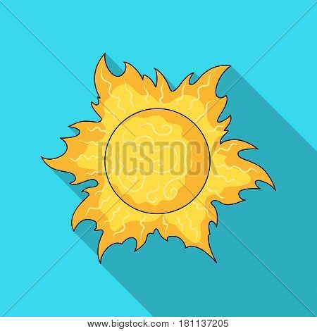 The sun is bright.Summer rest single icon in flat style vector symbol stock web illustration.