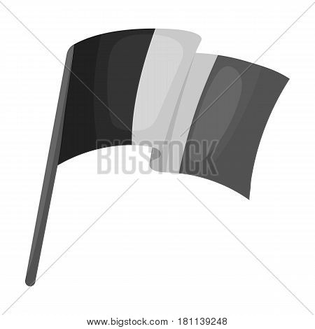 The Belgian flag.The dark Belgian wolf. Belgium single icon in monochrome style vector symbol stock web illustration.
