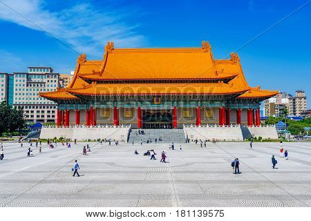 Taipei National concert hall architecture in Chiang Kai Shek memorial hall