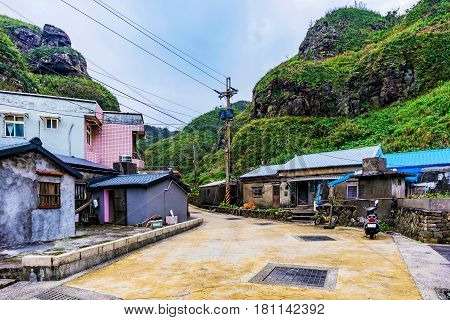 Village houses in the countryside of Taiwan