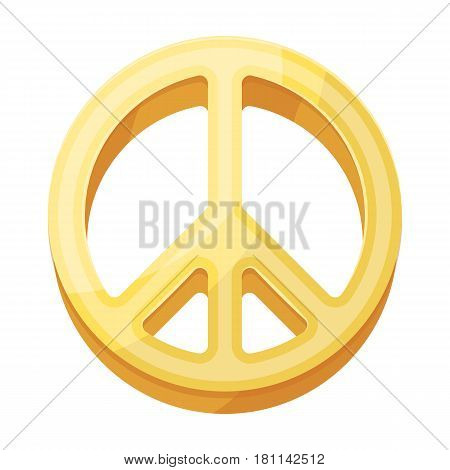 The icon of the world.Hippy single icon in cartoon style vector symbol stock illustration .
