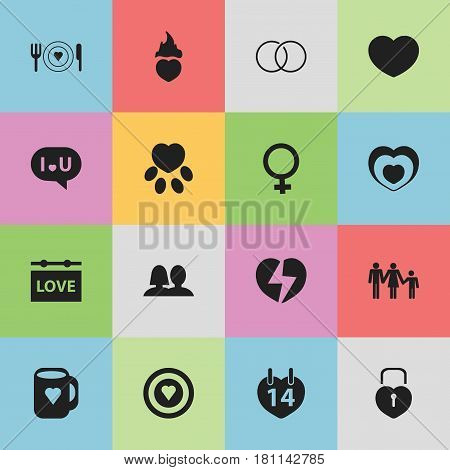 Set Of 16 Editable Amour Icons. Includes Symbols Such As Banner, Confession, Fire Loving And More. Can Be Used For Web, Mobile, UI And Infographic Design.