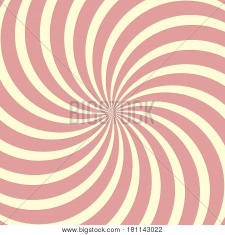 Helical circular background, Lollipop twisted rays vector pop art comic style, pastel color