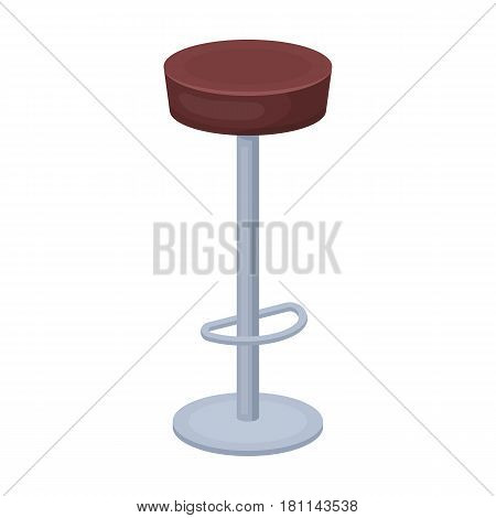 High chair seat near the bar. Bary chair to relax. Pub single icon in cartoon style vector symbol stock web illustration.
