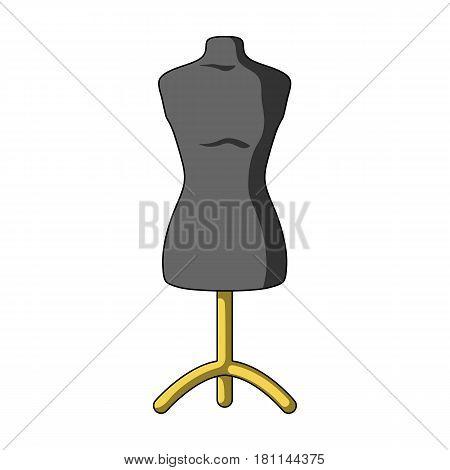 Plastic dummy on the stand.Sewing or tailoring tools kit single icon in cartoon style vector symbol stock web illustration.