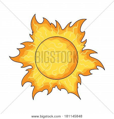 The sun is bright.Summer rest single icon in cartoon style vector symbol stock web illustration.