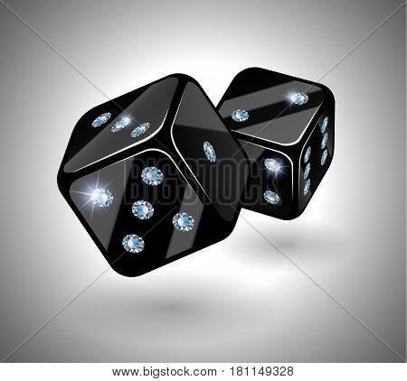 Black Dices With Diamonds.