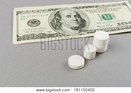 Towers From Pills - Rising Of Taking Pills. Medical Concept