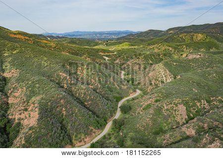 Roads In Southern California Hills