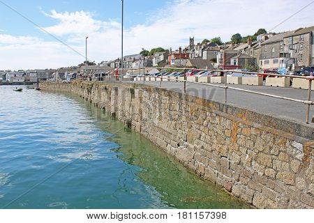 Sea Wall on the River Fal, Falmouth